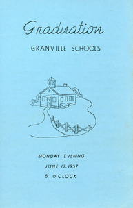 Granville Village School graduation program, 1957