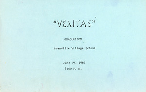 Granville Village School graduation program, 1961