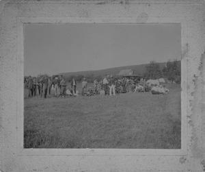Large group on a hillside