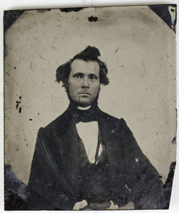 Tintype portrait of unknown man