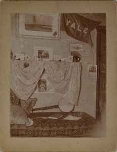 Room with Yale banner