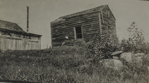 Latham place, shed at shingle mill