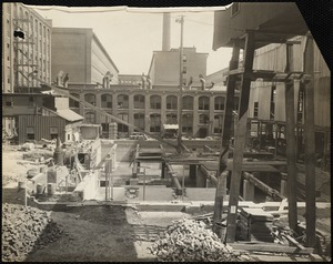 Pacific Mills, worsted dept., lower yard. New finishing building, looking east from no. 1 mill