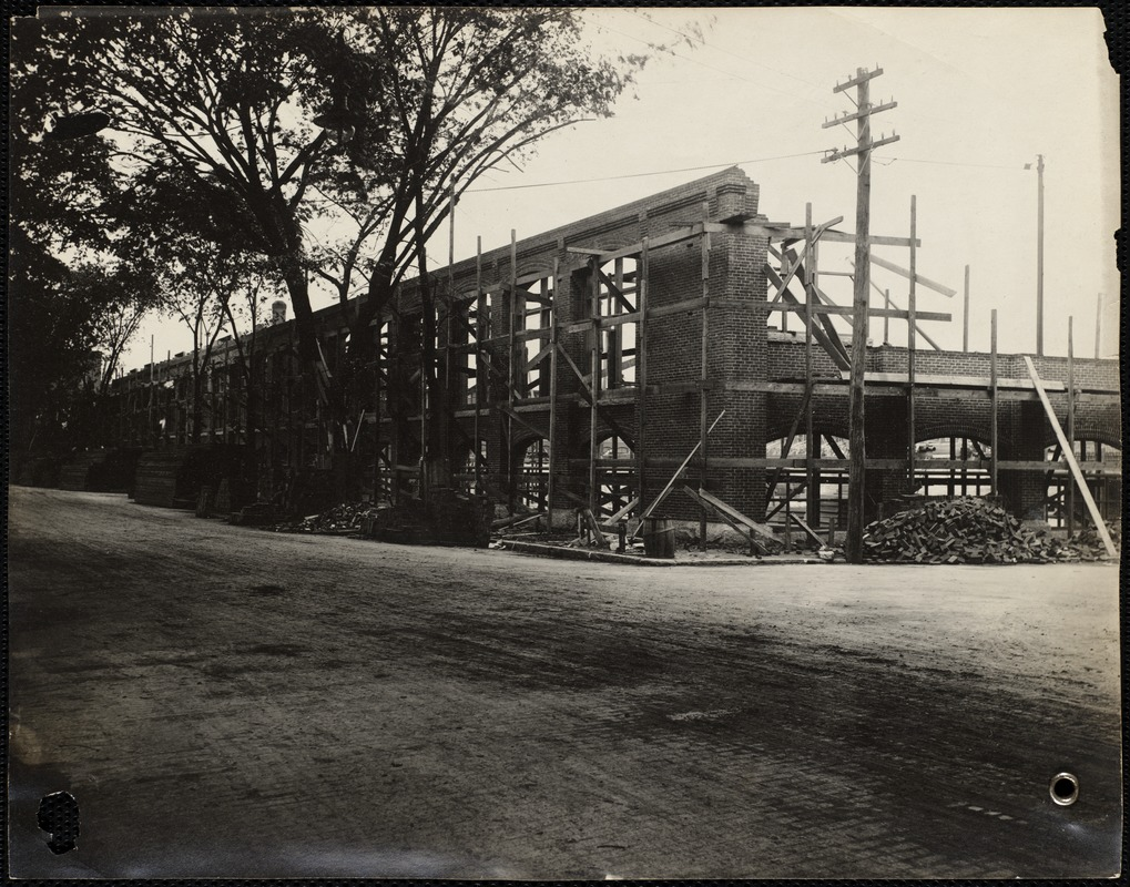 New worsted mill, corner of Canal and Hampshire streets
