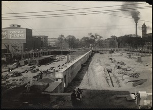 Site of new worsted mill, looking north-easterly from Franklin street
