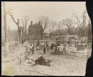 Mill construction on Methuen st for Upper Pacific Mills