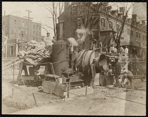 Mill construction on Methuen St. for Upper Pacific Mills