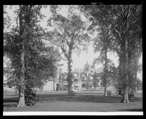 Erskine Park: house through trees