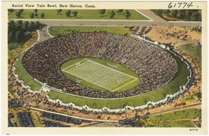 Aerial view Yale Bowl, New Haven, Conn.