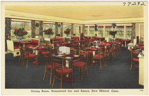 Dining room, Homestead Inn and Annex, New Milford, Conn.