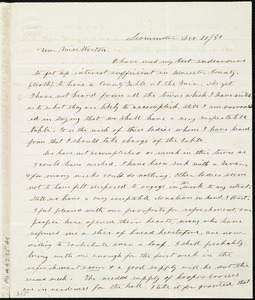 Letter from Frances H. Drake, Leominster, [Mass.], to Anne Warren Weston, Dec. 10 / [18]50