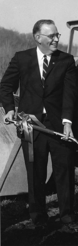 Cropped view of Thomas Morison at Waltham campus groundbreaking