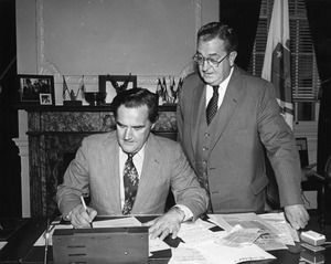 Governor Edward King and State Secretary Michael J. Connolly