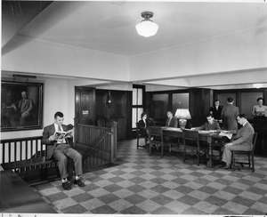 Administrative Office lobby of 921 Boylston Street on original Boston campus