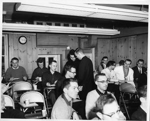 Students in classroom on Boston campus