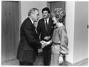 President Gregory Adamian and Nancy Reagan