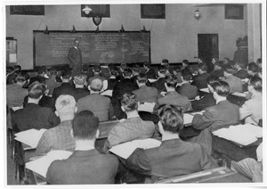 Early students in classroom