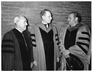 Henry Rauch, Commencement speaker Thomas Ashley Graves, Jr. and President Gregory Adamian in regalia