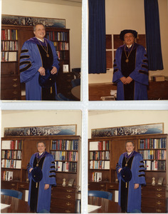President Gregory Adamian in academic regalia