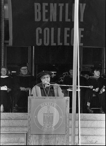President Gregory Adamian speaks at 1982 Commencement