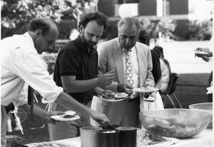 President Gregory Adamian at the 1990 Bentley BBQ