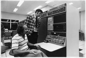 Professor Stephen Klein and [?] use early DecSystem10 computer