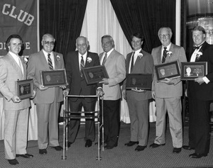 Bentley Athletic Hall of Fame induction ceremony 1988