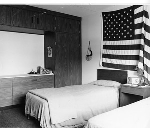 Decorated dormitory room