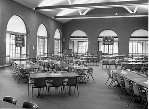 Student center dining hall in 1972