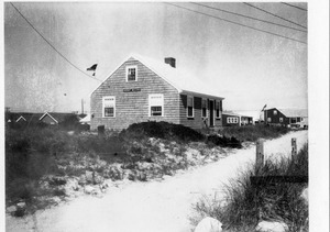 Beach cottage, possibly called Eight Bells