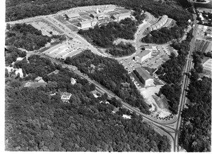 Aerial view of Waltham campus