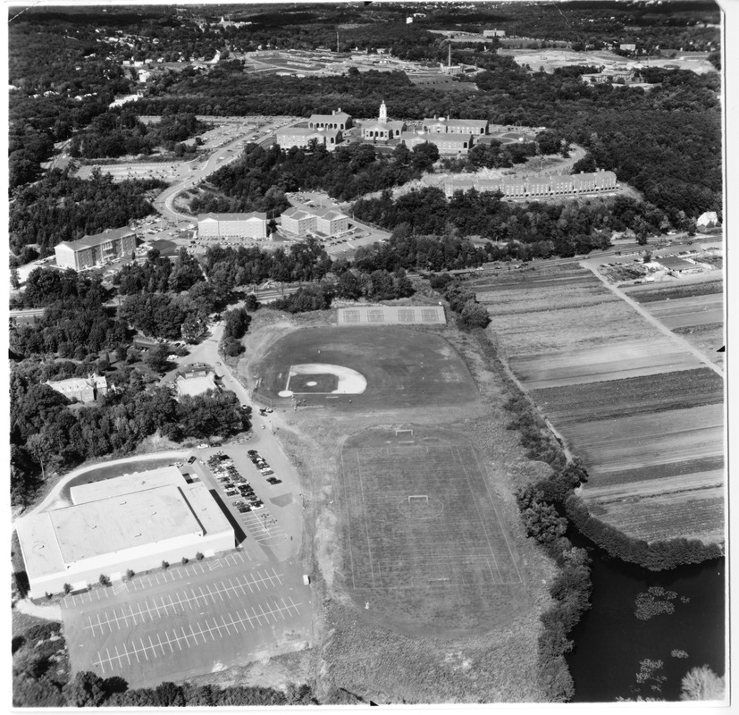 Aerial view of Dana Center and Athletic Fields