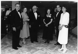 President Gregory Adamian with his wife and others at formal event