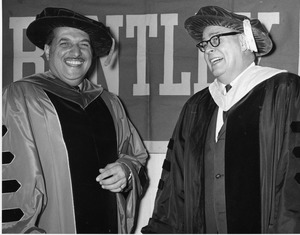 President Gregory Adamian and President Thomas Morison at Adamian inauguration