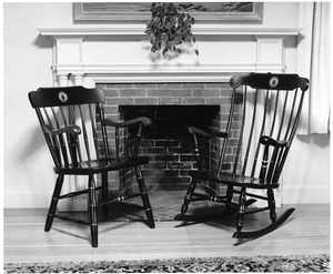 Bentley College of Accounting and Finance commemorative chairs