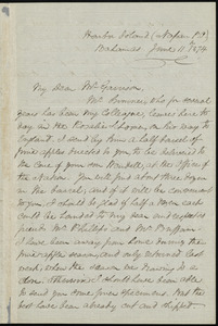 Letter from Henry Bleby, Harbor Island, (Napan P.O.), Bahamas, to William Lloyd Garrison, June 11th, 1874