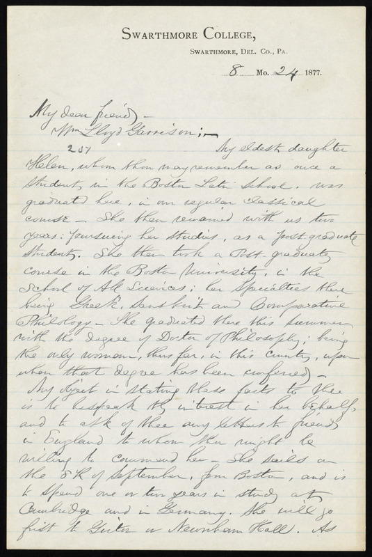 Letter from edward hicks magill swarthmore college swarthmore del letter from edward hicks magill swarthmore college swarthmore del county altavistaventures Image collections