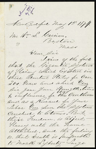 Letter from Andrew M. Bush, New Bedford, to William Lloyd Garrison, May 1st, 1879