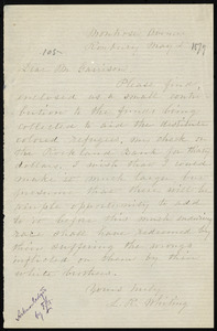 Letter from L. R. Whiting, Montrose Avenue, Roxbury, [Mass.], to William Lloyd Garrison, May 2, [1879]