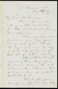 Letter from William Eaton Chandler, Concord, N.H., to William Lloyd Garrison, May 5th / [18]79