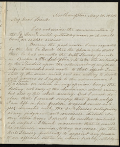 Letter from David Lee Child, Northampton, [Mass.], to William Lloyd Garrison, May 18, 1843