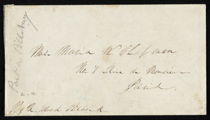 Letter from Parker Pillsbury, Liverpool, [England], to Maria Weston Chapman, January 17, 1854
