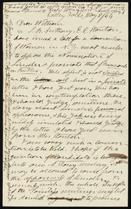Letter from Henry Clarke Wright, Valley Falls, to William Lloyd Garrison, May 8, 1864