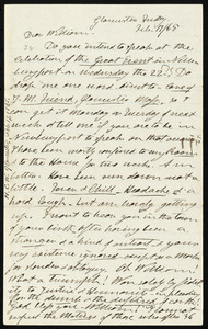 Letter from Henry Clarke Wright, Gloucester, to William Lloyd Garrison, Feb. 17 / [18]65