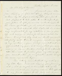 Letter from Aaron Cooley, Boston, [Mass.], to William Lloyd Garrison, Sept. 3'd, 1866