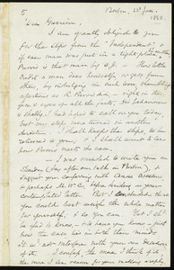 Letter from Samuel May, Boston, [Mass.], to William Lloyd Garrison, 22 Jan. [1868]
