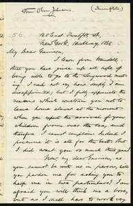 Incomplete letter from Oliver Johnson, 128 East Twelfth St[reet], New York, to William Lloyd Garrison, 10 May 1868