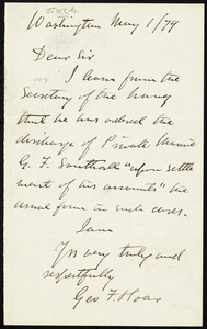Letter from George Frisbie Hoar, Washington, to William Lloyd Garrison, May 1 / [18]79