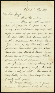 Letter from Alfred Harry Love, Philad[elphi]a, [Pa.], to William Lloyd Garrison, 8/29 1878