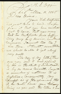 Letter from William Still, Philadelphia, to Samuel May, Mar. 10, 1860